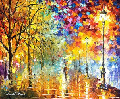 Lights Of Trust by Leonid Afremov by Leonidafremov