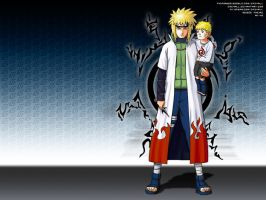 Minato and Kid Naruto by crz4all