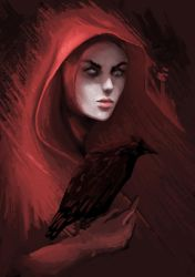 the red lady by jei6x