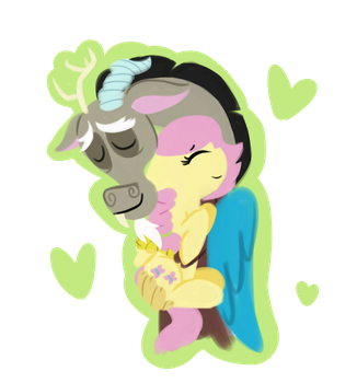 Ship art day: Fluttercord by Roseyicywolf