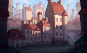 Old town 2 by WiredHuman
