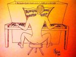 Nude Male Pianist by mertonparrish