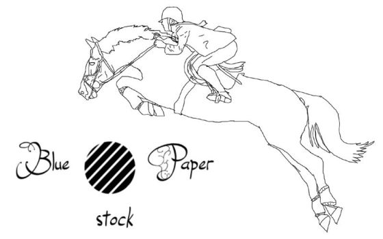 Showjumper Lineart by bluepaperstock