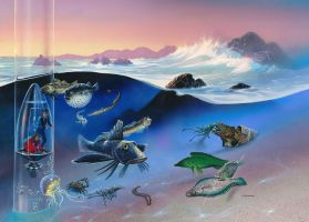 Oceanarium: Tidal Waters by AlanGutierrezArt