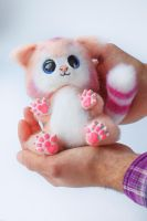 Author toy Cat Needle Felted Suzy 2 of 7 by Lyntoys