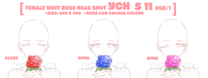 (SET PRICE|CLOSE)FEMALE WHIT ROSE YCH by krianart
