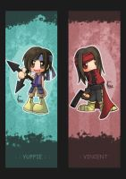 Bookmark-Yuffie and Vincent by Ching13