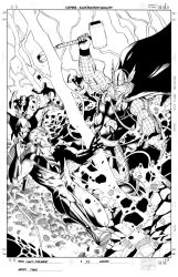 Mighty Avengers 34 cover Inks by Csyeung