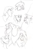 disney sketches by EmanuelMacias