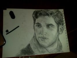 Charcoal Practice: Blaine Anderson by Salma-H