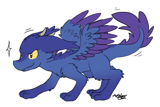 Redesigning Fluffy Dragon by BrownieComicWriter