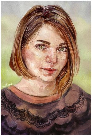 Commission - Watercolor portrait by point-maitimo