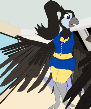 Ria grows on a flight by OceanRailroader