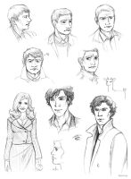 Sherlock sketches by bbshrimp