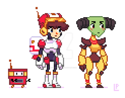 Space Platformer Characters by LaundryPile