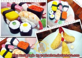 Clay Work - Japanese Food by TashaChan