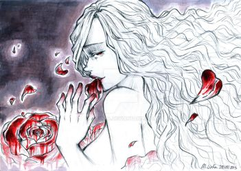 Blood Stained Roses by M-Linfa