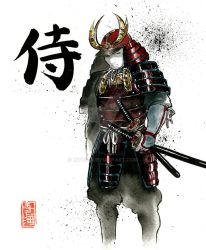 Armored samurai by MyCKs