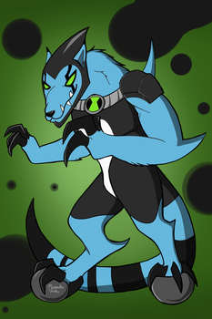 XLRWolf Ben 10 by dragonfire1000