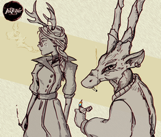 Witches and familiars 15.Antelope by Tornaku