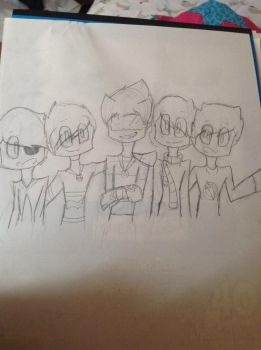 Skydoesminecraft and friends thing by LilMintySherbert