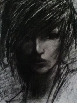 Charcoal Head Sketch by ChibiOutlaw