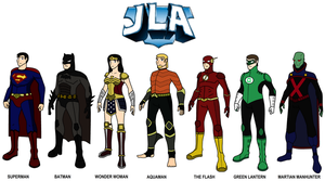 DC - JLA 1: The Main Seven 2011 by HewyToonmore