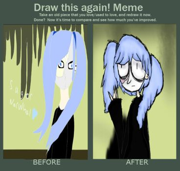 Draw this again meme by sugernarwhals