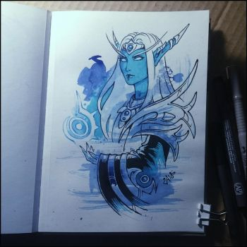Sketchbook - Arcanist Valtrois by Candra