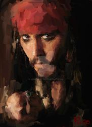 Captain Jack Sparrow by jonpinto