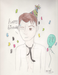 HAPPY BIRTHDAY FREN!! Here's an unbuttoned Connor by 27Paczkis