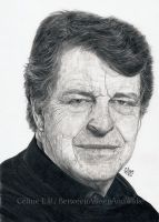 John Noble in pencil by BetweenAsleepAndWake