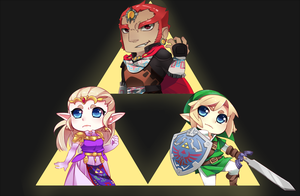 Triforce trio by R0cket-Cat