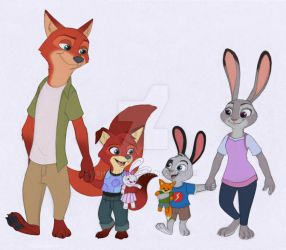 Zootopia - Family walk by Shadeink