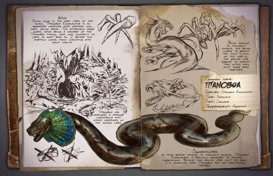 Ark: Survival Evolved Titanoboa Dossier by RasyidGaming