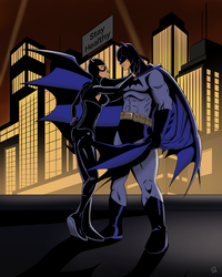 Batman and Catwoman by robertamaya