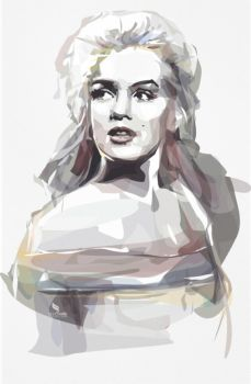 Marilyn Monroe - Vector WaterColor by opparudy