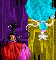 Homestuck Day 13 - Queens of Derse and Prospit by ZeroSoul