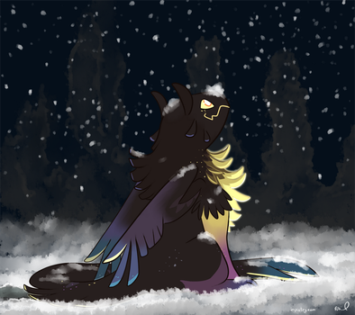 Prompt #1 - North Star's first snow by Dragontrap