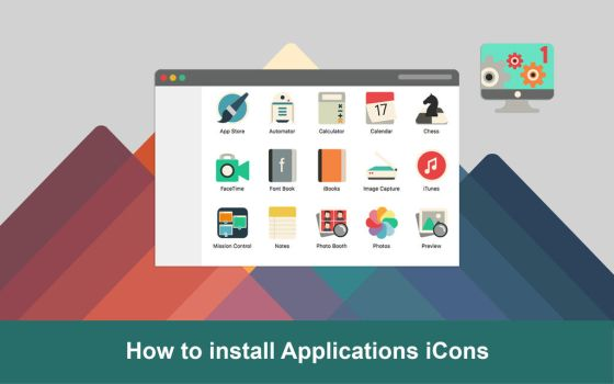 How to install applications icons iConadams by valvator