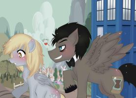 discord whooves X derpy by Invader-celes