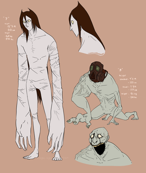 Monster Concepts: 7 and 3 by eagle-eyes