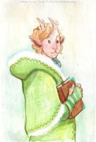 Christmas watercolor : Cyprien by kineko