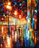 The Tempo Of The Rain by Leonid Afremov#abstract # by Leonidafremov