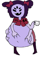 Muffet's Big Jelly Belly (Vore) by IceManF11