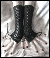 Restrained Corset Arm Warmers by ZenAndCoffee