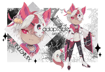 [CLOSED+winner] FREE ADOPTABLE RAFFLE-AKAINUGAMIX by Skf-Adopt