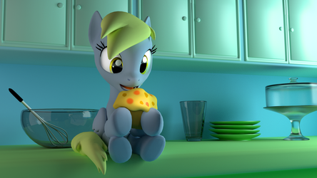 Derpy's First Muffin by Nein-Skill