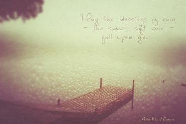 Blessings Of Rain With Watermark And Kk Flow Textu by PhotosWestofBeantown