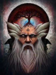 Odin The All Father by touchedbyred
